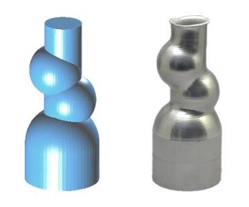 3DCADによる異形形状のモデリングと実際の製品